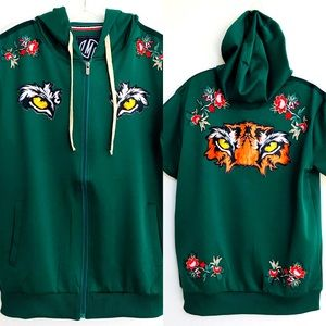 NWT IMPERIOUS Eagle / Tiger Eyes HOODIE JACKET L
